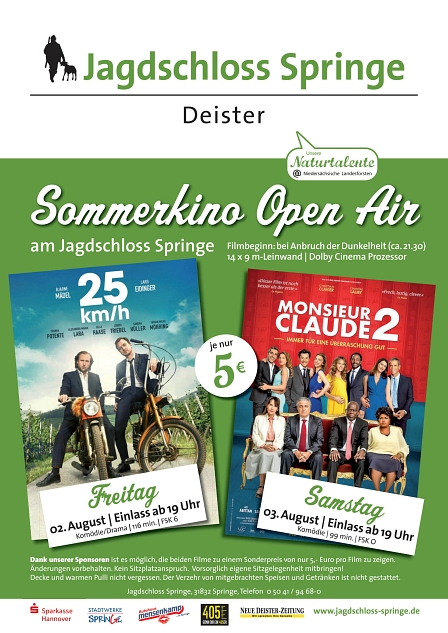 Sommerkino 2019 Open Air © Jagdschloss Springe